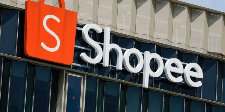 A signage of Shopee, the e-commerce arm of Sea Ltd, is pictured at its office in Singapore, March 5, 2021. REUTERS/Edgar Su