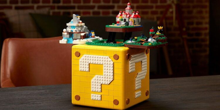 Lego and Nintendo's $170 Question Block contains mini Mario 64 worlds