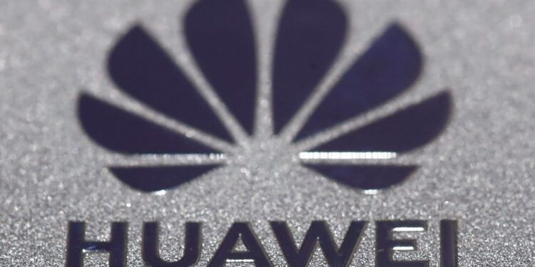 Huawei logo is seen during Munich Auto Show, IAA Mobility 2021 in Munich, Germany, September 8, 2021. REUTERS/Wolfgang Rattay